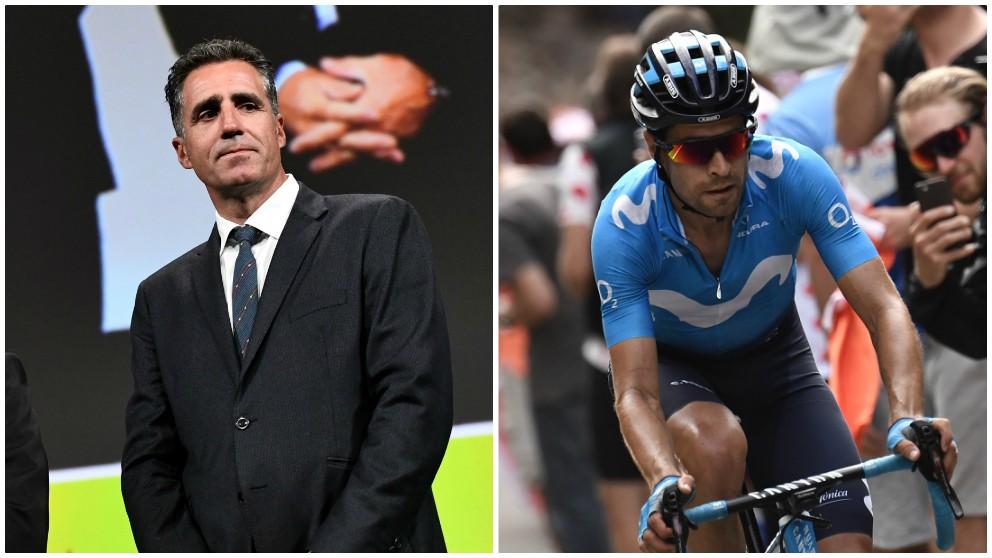 Miguel Indurain y Mikel Landa. (AFP)