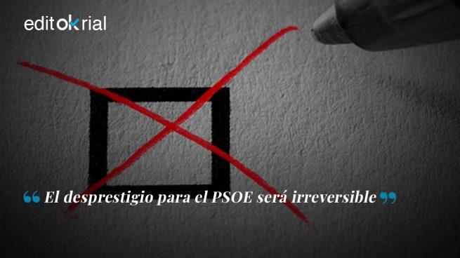 Sánchez no puede aceptar votos manchados de sangre