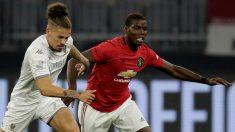 Paul Pogba durante el Manchester United – Leeds de pretemporada. (Getty)