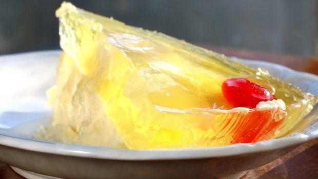 Flan con queso y melón