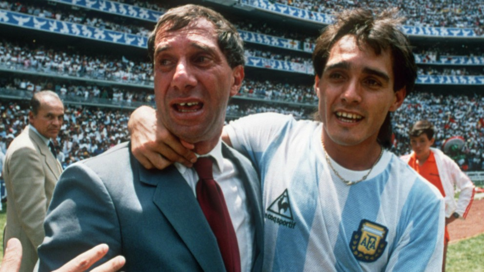 Bilardo, tras ganar el Mundial 1986. (AFP)