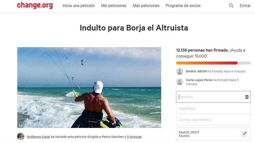 Campaña a favor de Borja en Change.org