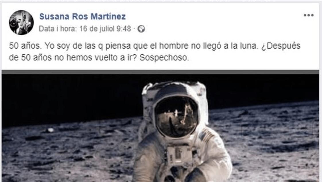 El comentario en Facebook de la diputada del PSOE @FB