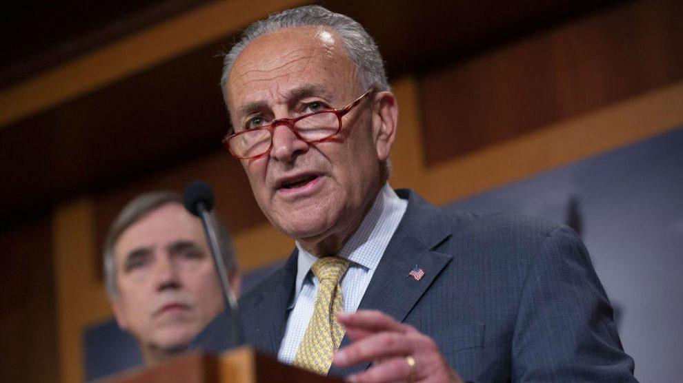 El líder de los demócratas en EEUU, Chuck Schumer. Foto: Europa Press