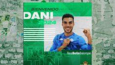 Dani Martín, nuevo portero del Betis (Real Betis)