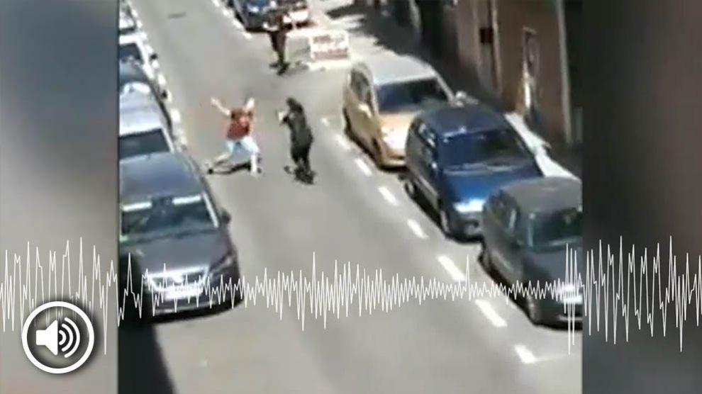 Audio de la policía de Carabanchel.