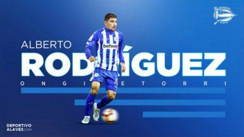 Alberto Rodríguez, nuevo fichaje del Alavés (Deportivo Alavés)