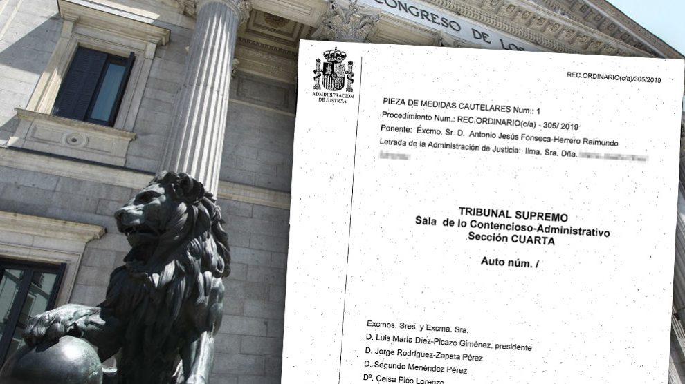 El jefe de prensa del Congreso impide el acceso al redactor de OKDIARIO pese al auto dictado ayer por el Supremo.