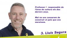Lluís Segura ha sido concejal de Cultura de Més-ERC en el Ayuntamiento de Lluchmayor (Mallorca).