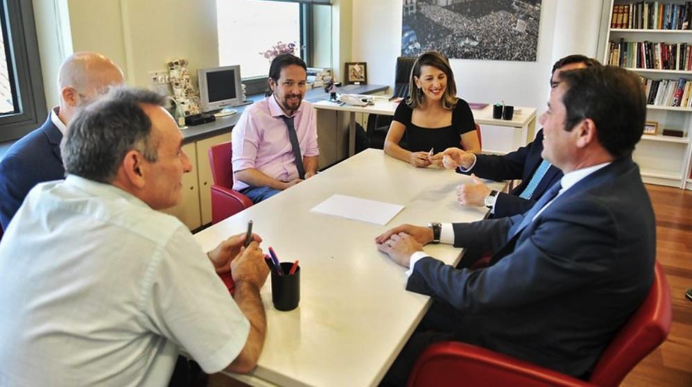 Pablo Iglesias en una de las zonas de su despacho en el Congreso de los Diputdos. (Foto. Podemos)