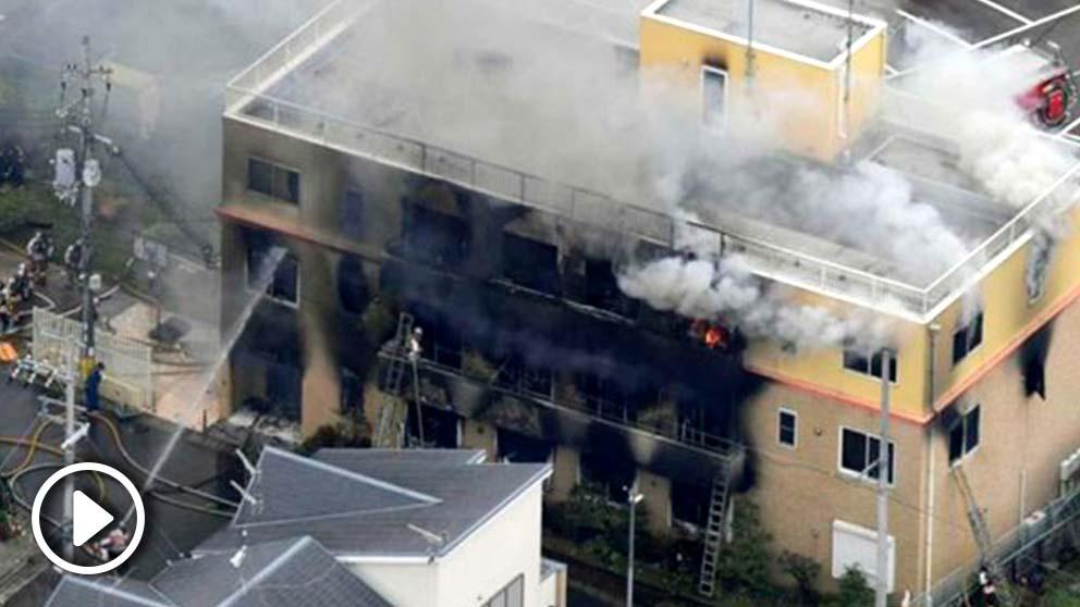 Incendio en un estudio de animación de Japón
