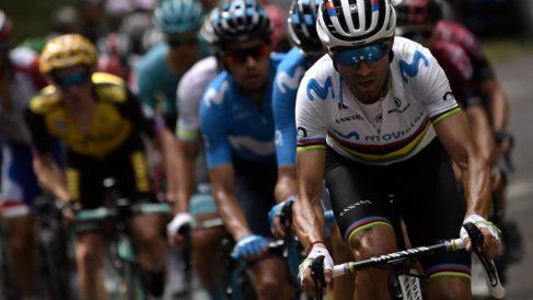 Alejandro Valverde durante una etapa del Tour de Francia. (AFP)