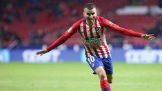 Ángel Correa celebra un gol con el Atlético de Madrid (@AngelCorrea32)