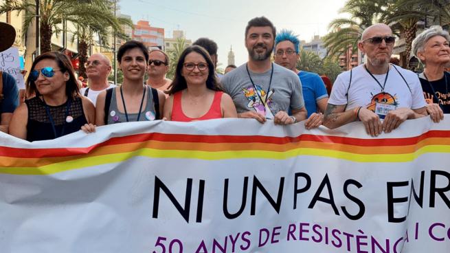 Monica Oltra, líder de Compromís, en el Orgullo Gay de Alicante @Twitter