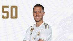 Eden Hazard usará el número 50 en el Bayern – Real Madrid.