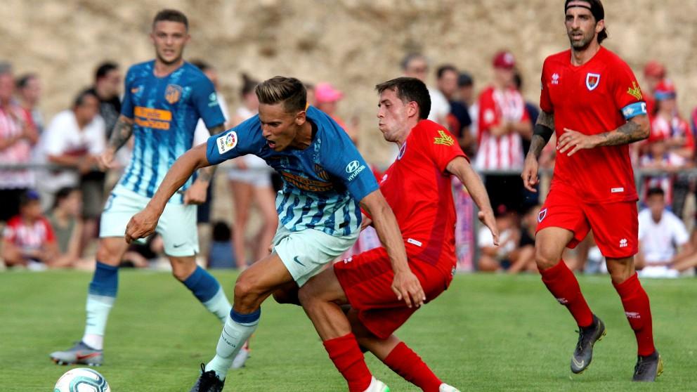 Marcos Llorente durante una acción del Numancia – Atlético. (EFE)