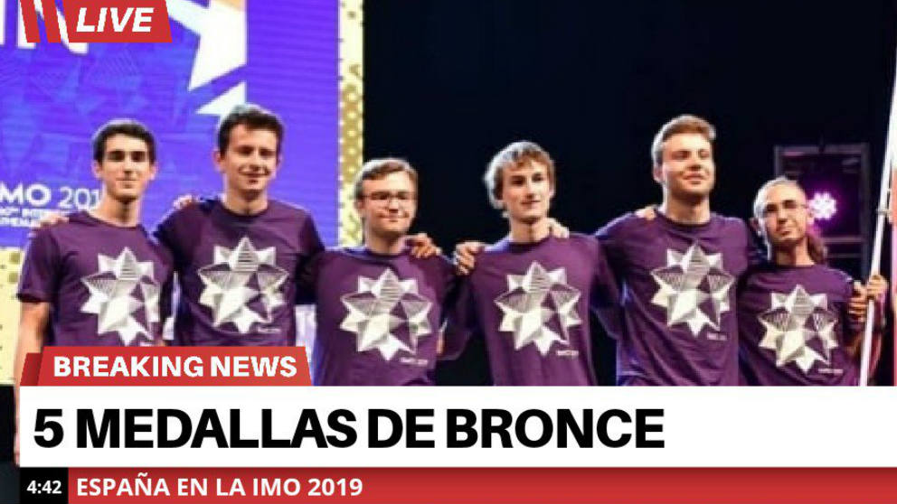 Los premiados en la Olimpiada Internacinal de Matemáticas de 2019. (@asfamesval)