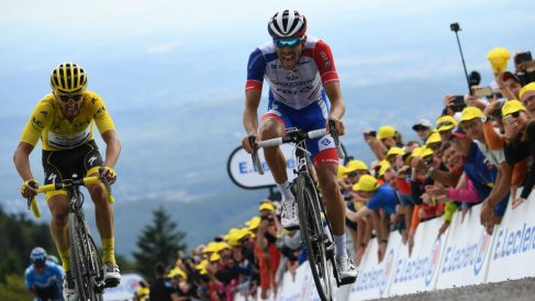 Pinot y Alaphilippe. (AFP)