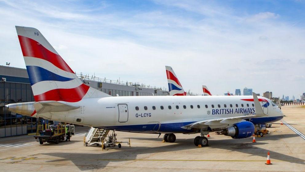 Uno de los aviones de la flota de British Airways.