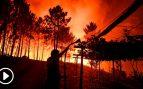 El sobrecogedor incendio que asola Portugal aún sigue sin control y se extiende al norte de Lisboa