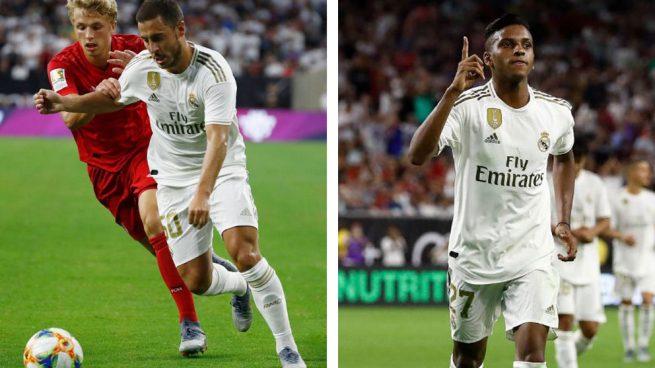 Hazard ilusiona en su debut y Rodrygo se presenta con un golazo