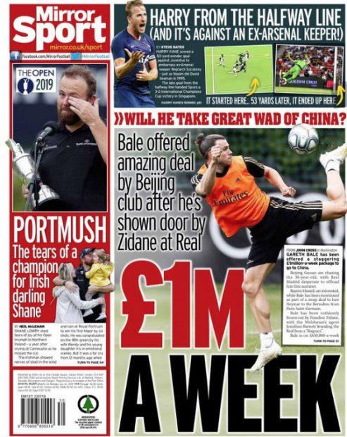 En China quieren que Bale sea el mejor pagado de la historia: 1 millón a la semana