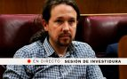 Pablo Iglesias en el debate de investidura de Pedro Sánchez, en directo | Última hora del Congreso de los Diputados