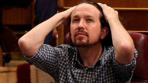 Pablo Iglesias durante el debate de Investidura (Foto: EFE)