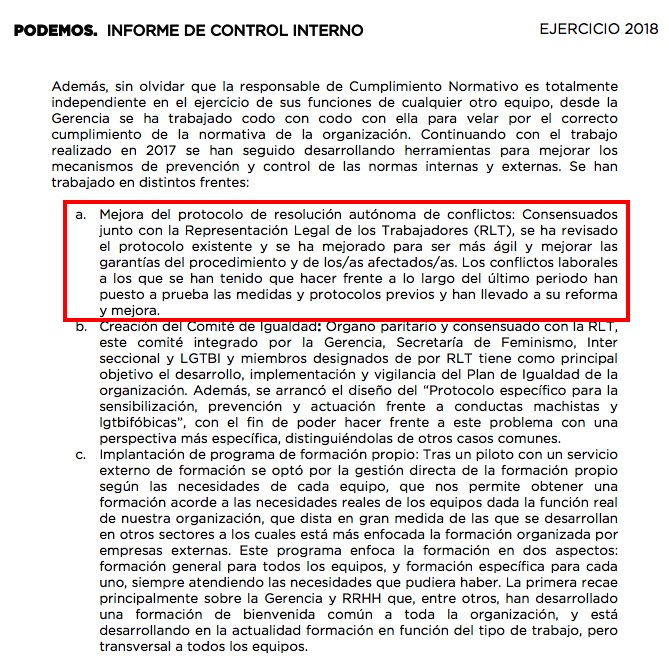 Informe de control interno de Podemos. (Clic para ampliar)