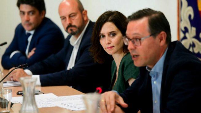 Isabel Díaz Ayuso este lunes en la Asamblea de Madrid. (Foto. PP)