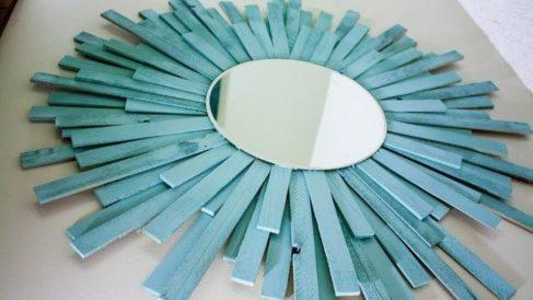 Pasos para hacer un marco de fotos o de espejo con palitos de helado