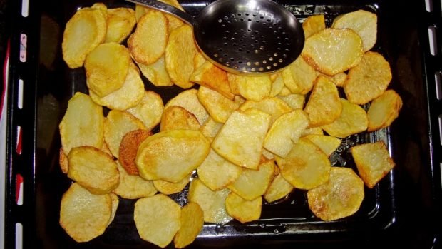 patatas panaderas con jamón