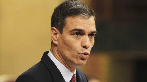 Pedro Sánchez en la sesión de investidura en el Congreso de los Diputados. (Foto: Francisco Toledo).