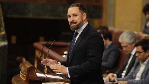 Santiago Abascal en su primera intervención desde la tribunal del Congreso de los Diputados