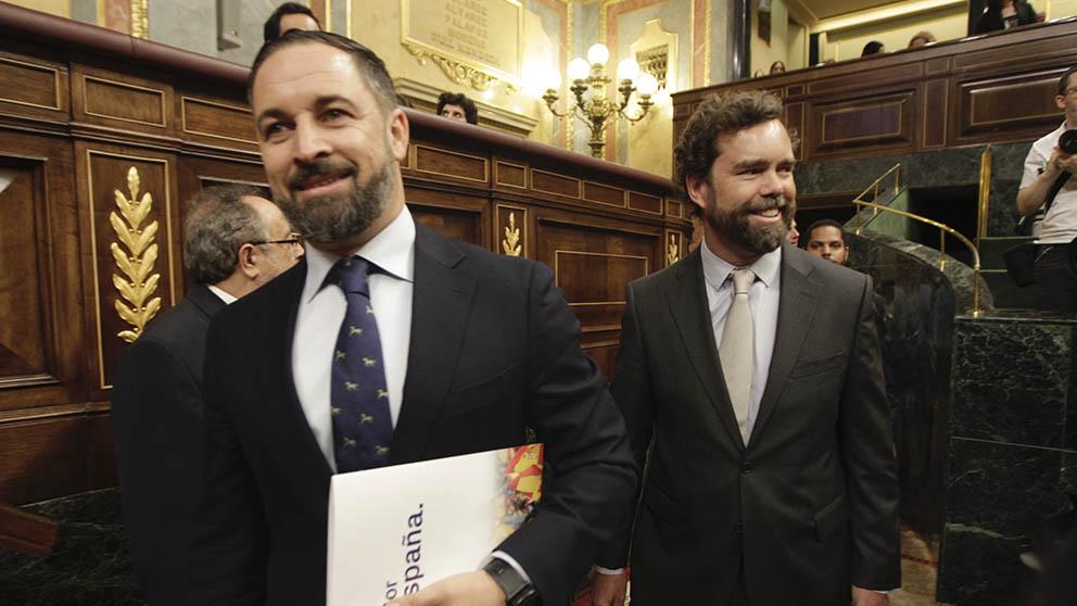 Santiago Abascal y Espinosa de los Monteros en el Congreso. (Foto: Francisco Toledo).