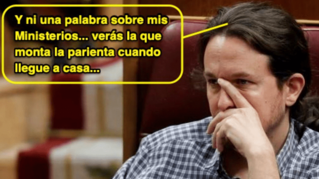 El meme de Pablo Iglesias en el Congreso @TWITTER