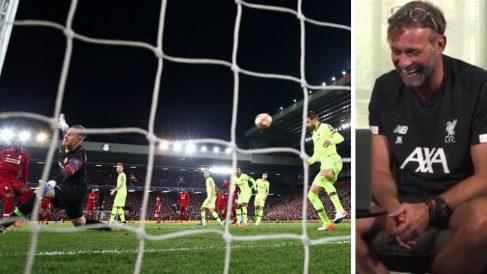 El-Liverpool-ha-compartido-un-vídeo-en-el-que-Klopp-se-parte-de-risa-al-revivir-el-gol-de-la-remontada-al-Barcelona