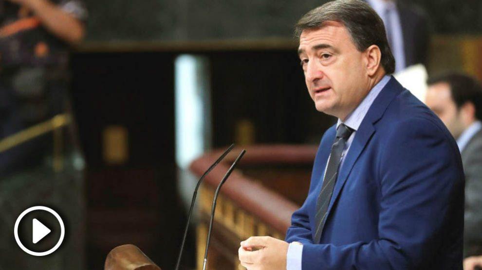 El portavoz del Partido Nacionalista Vasco en el Congreso de los Diputados, Aitor Esteban. (Foto: Efe)