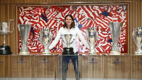 Filipe Luís en su despedida del Atlético de Madrid (@Atleti)