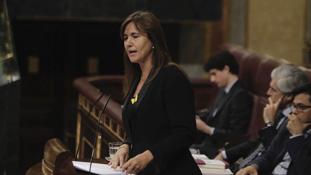 Laura Borràs, portavoz de JxCat en el Congreso de los Diputados. (Foto: Francisco Toledo).