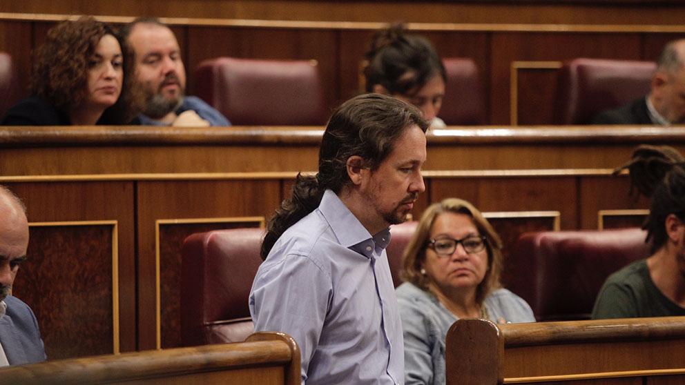 Pablo Iglesias en el Congreso de los Diputados. (Foto: Francisco Toledo).