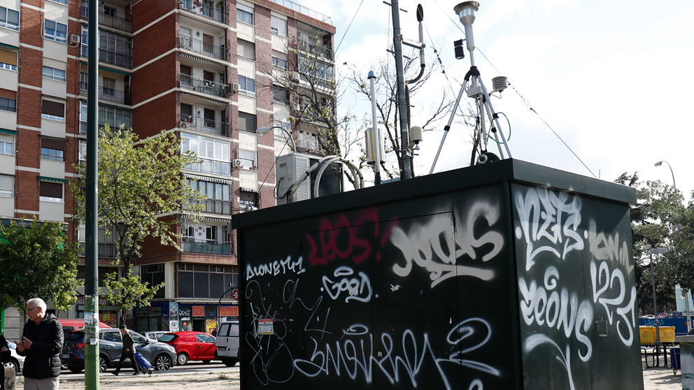 La Plaza Elíptica de Madrid registra los peores datos de contaminación (Foto: EP)