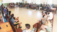 Reunión de las juventudes de Podemos