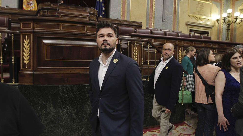 Gabriel Rufián en el Congreso de los Diputados. (Foto: Francisco Toledo).