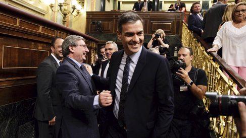 Pedro Sánchez en el Congreso de los Diputados. (Foto: Francisco Toledo).