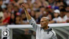 Zidane, durante el Bayern – Real Madrid. (AFP)