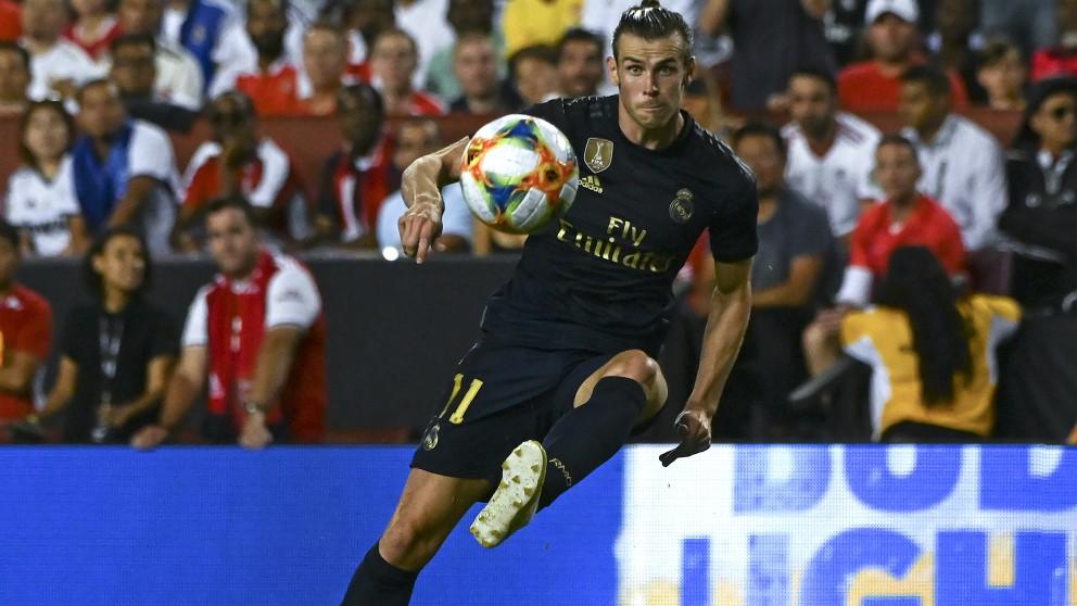 Bale, durante el Real Madrid – Arsenal. (AFP)