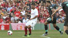 Nolito en un partido contra el Liverpool (@SevillaFC)