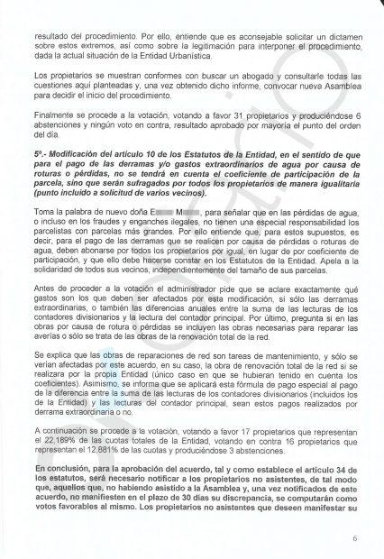 La delegada de Iglesias en su junta de vecinos vota para que las fincas como el casoplón no paguen más