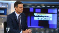 Pedro Sánchez, presidente del Gobierno en funciones en Telecinco @GETTY-min